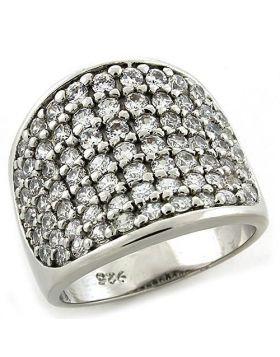 Ring 925 Sterling Silver Rhodium AAA Grade CZ Amethyst