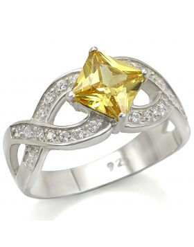 Ring 925 Sterling Silver Silver AAA Grade CZ Topaz