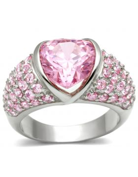 Ring 925 Sterling Silver Silver AAA Grade CZ Rose