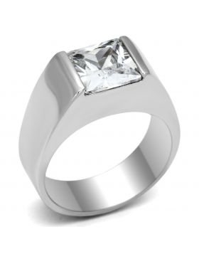 Ring 925 Sterling Silver Rhodium AAA Grade CZ Clear