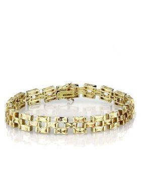 Bracelet 925 Sterling Silver Gold AAA Grade CZ Champagne