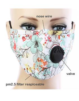 Floral Paradise Respirator Mask  - White Multi