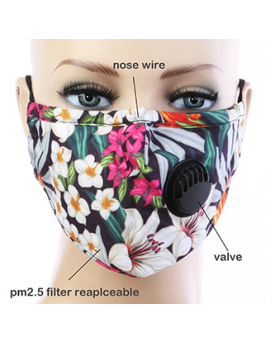 Tropical Paradise Respirator Mask  - Multi