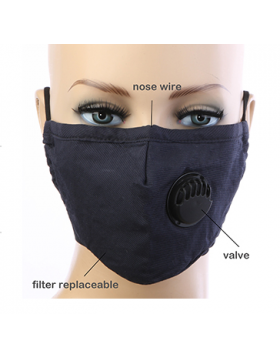 Cotton Respirator Mask  - Navy Blue