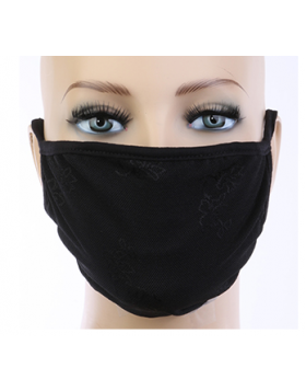 Retro Mesh Mask - Black