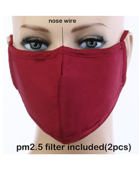 Cotton Mask - Red