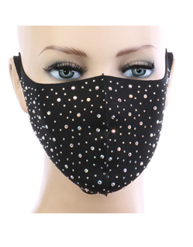 Diva Bling Mask  - Black