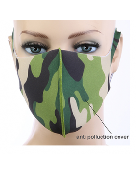 Baddy Camo Mask   - Green
