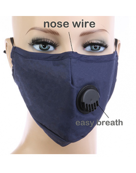 Solid Respirator Mask - Blue