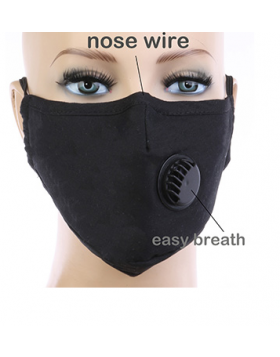 Solid Respirator Mask - Black