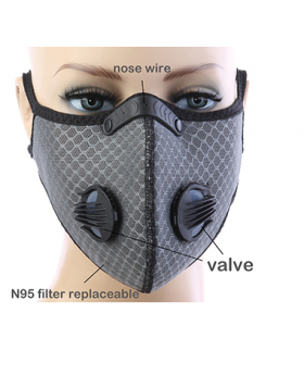 Double Respirator Mask - Grey