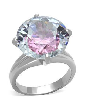 Ring Stainless Steel High polished (no plating) AAA Grade CZ Multi Color