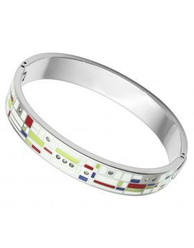 Bangle Stainless Steel High polished (no plating) Top Grade Crystal Clear