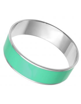 Bangle Stainless Steel High polished (no plating) Epoxy Turquoise