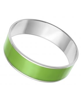 Bangle Stainless Steel High polished (no plating) Epoxy Emerald