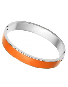 Bangle Stainless Steel High polished (no plating) Epoxy Orange