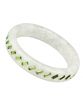 Bangle Resin N/A Top Grade Crystal Peridot