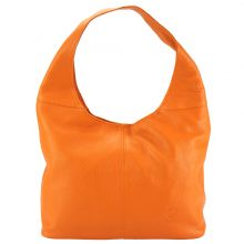 The Caïssa leather bag - Orange
