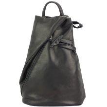 Fiorella leather backpack - Black
