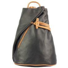Fiorella leather backpack - Black/Tan