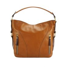 Sabrina leather shoulder bag - Tan