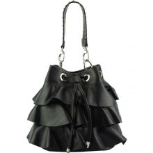 Ileana leather bucket bag - Black