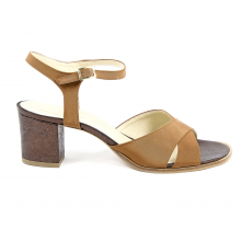 V 1969 Italia Womens Ankle Strap Sandal Brown VERA - 11215-36835-8055273033400