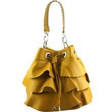 Ileana leather bucket bag - Golden