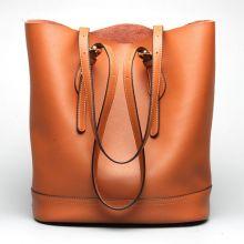Women Genuine Leather Handbag High End Tote Bag Bucket Bag