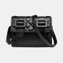 Women Casual Solid Quilted Phone Bag Crossbody Bag