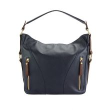 Sabrina leather shoulder bag - Blue