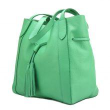 Prudenzia leather shoulder bag