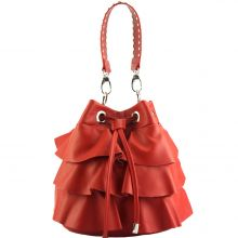 Ileana leather bucket bag - Red