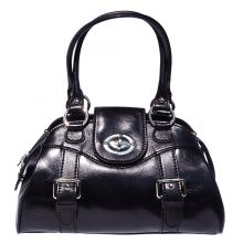 Romina leather bag - Black