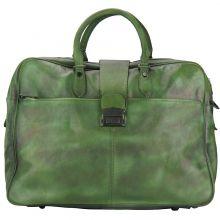 Travel bag Raimondo in vintage leather - Green