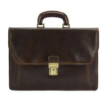 Sergio leather Mini briefcase - Brown