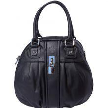 Bowling leather bag w/lock - Black