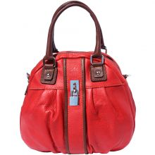Bowling leather bag w/lock - Red