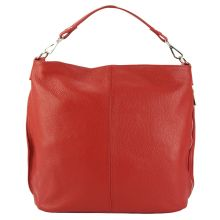 The Donata Leather Hobo Bag - Red