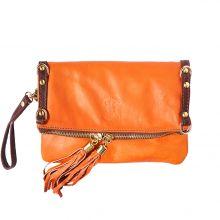Giorgia GM leather clutch - Orange