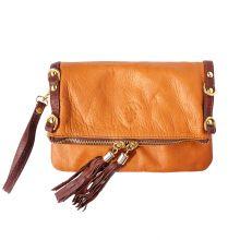 Giorgia GM leather clutch - Brown