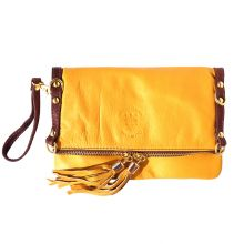 Giorgia GM leather clutch - Yellow