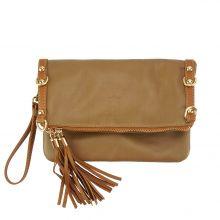 Giorgia GM leather clutch - Dark Brown