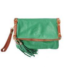 Giorgia GM leather clutch - Green