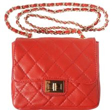 Be exclusive leather bag - Red