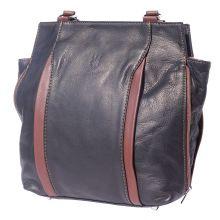 Berri hobo leather bag (convertible backpack) - Blue/Brown