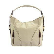 Sabrina leather shoulder bag - Beige