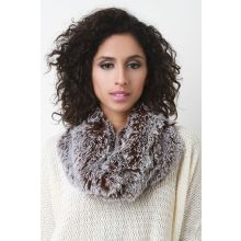 Frosted Fur Neck Warmer -  Brown color