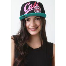 Cali Snapback Cap -  Black color
