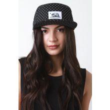 Snapback Polka Dot Cali Flag Cap -  Black/White